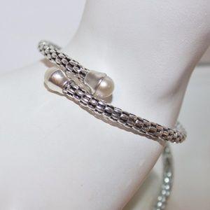 Retired Michael Dawkins Italy 925 Pearl Bracelet